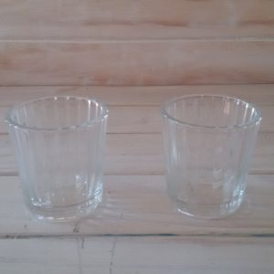 Glass Rippel Votive