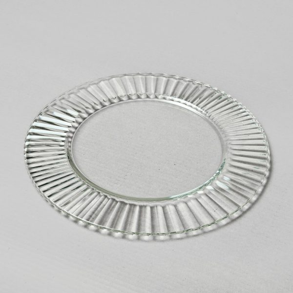 Glass under plate