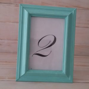 Mint/Turquoise frame number