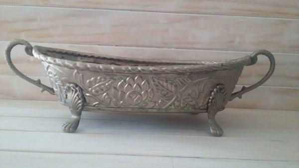 Silver Boat Vase