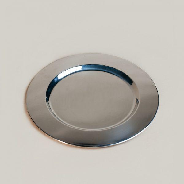 Silver under plate