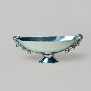 Silver oval bowl