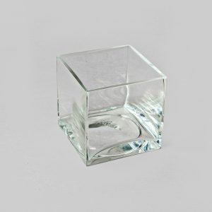 Square Glass Vase 15x15x15 cm