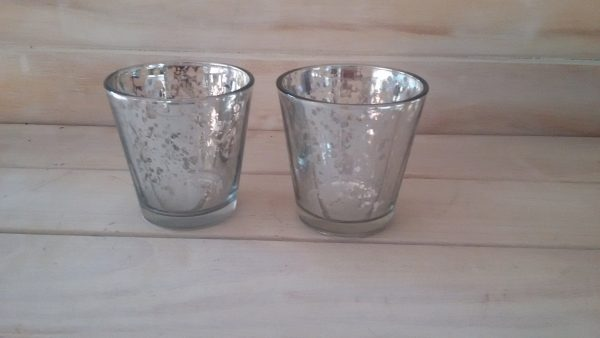 Stained votive Silver