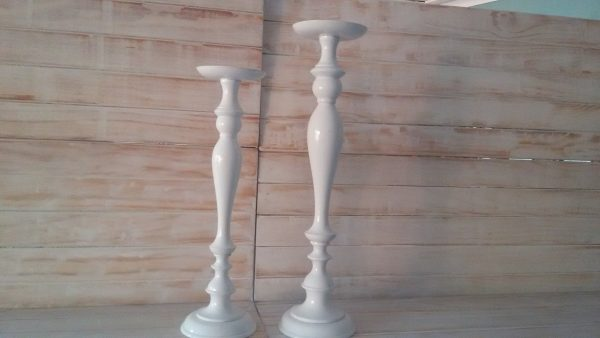 White Candle Stick Tall