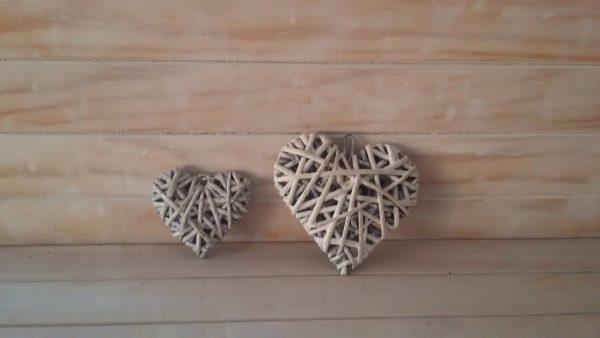 Small Wicker Hearts