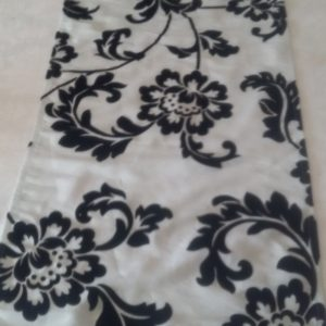 Black Damask Runner