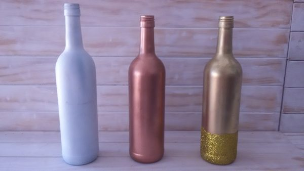 Bronse sprayed Wine bottel
