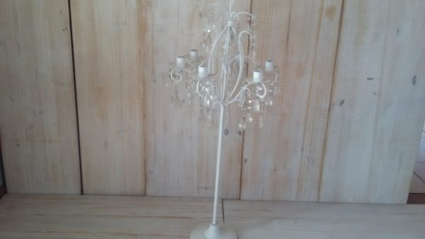 White Country candleabra 75cm