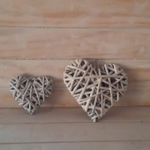 Medium Wicker Hearts