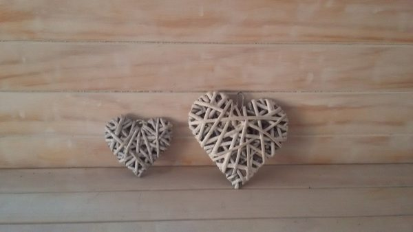 Small Wicker Hearts